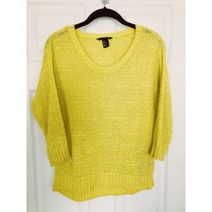 H&M Sweater in Spring Yellow!!